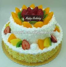 artificial birthday cake model for shop sample display realistic