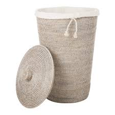 buy decor walther basket wb laundry basket round with cloth bag