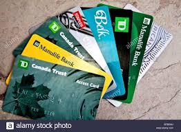 money cards visa master card various credit cards plastic money stock photo