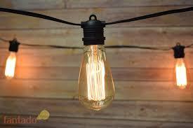 edison string lights 24 socket string light edison st64 squirrel cage light bulbs 54ft
