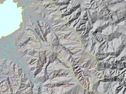 Humboldt State University Map by Area Jacoby Creek Topic Map K Stream Gradient Jacoby Creek