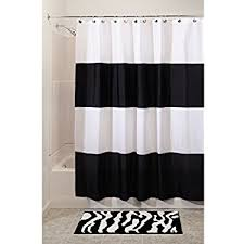Amazon Extra Long Shower Curtain Amazon Com Interdesign Leaves X Long Shower Curtain Black And
