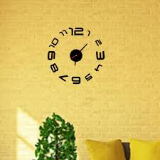 popular white wall clock stickers buy cheap new black white red silver diy number wall clock mirror sticker modern home decor