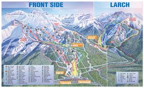 Snowmass Colorado Map by Sunshine Village Trail Maps U0026 Sunshine Village Ski Resort Trail