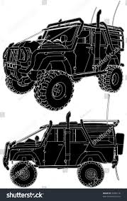jeep silhouette jeep offroad car vector 04 stock vector 35966176 shutterstock