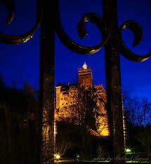 dracula castle bran castle by night the lightorialist