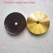 Pendant Light Canopy 2pieces Lot 100x20mm Antique Gold Cord Pendant Light Canopy