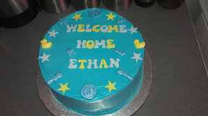 home cake decorating supply welcome home cake baby boy desserts galore pinterest cake