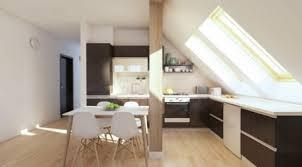 attic kitchen ideas modern kitchen in attic design