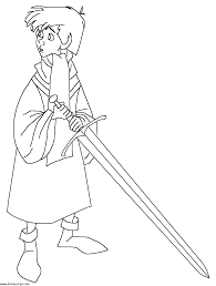 sword coloring pages to download and print for free