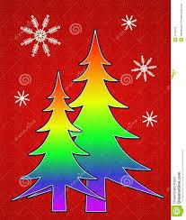 Pine Tree Flag Pride Flag Christmas Tree Card 2 Illustration 3706519 Megapixl