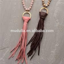 long beaded tassel necklace images N15042803 jasper beaded tassel necklace long beaded leather tassel jpg