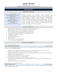 sql analyst resume resume for your job application