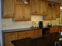 kitchen kitchen backsplash ideas with dark oak cabinets subway