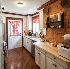 kitchen brick in the wall white painted brick wall brick accent