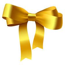 gold ribbon gold ribbon bow vector material free vector 4vector