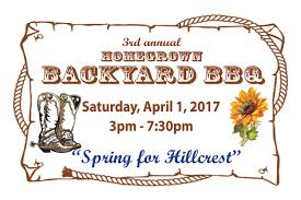 tickets on sale for 3rd annual backyard bbq hillcrest christian