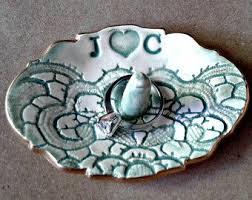 art glass dish ring holder images Ceramic ring holder etsy jpg