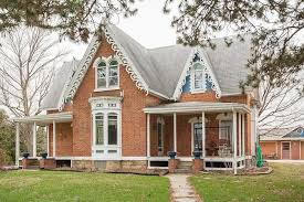 Gothic Revival Homes by Iowa Gingerbread House Circa Old Houses Old Houses For Sale