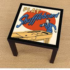play shuffleboard retro sports ikea lack table graphic ikea lack