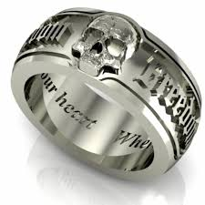 skull wedding bands