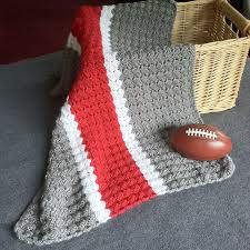 Osu Umbrellas by Ohio State Crochet Blanket Osu Baby Blanket Hand Made