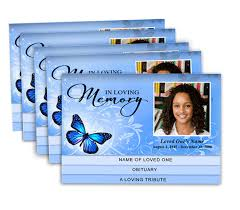 funeral program printing services 2 page graduated memorial service programs design professional
