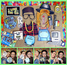 themed photo booth nineties photo booth props for a throw back 90s