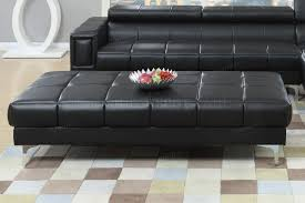 sectional sofa in black bonded leather by boss