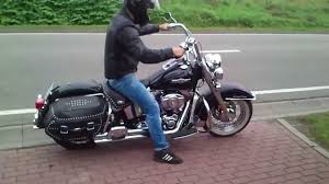 1st time on harley davidson heritage softail exhaust sound youtube