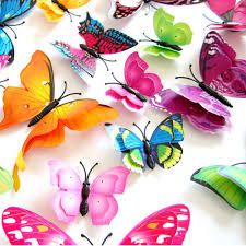 popular stickers wall sticker buy cheap stickers wall sticker lots 12pcs mix size 3d butterfly decals creative double layer color butterfly wall paste wall decor