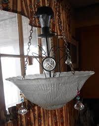 Repurposing Old Chandeliers Refurbished Into Solar Lighting Hometalk