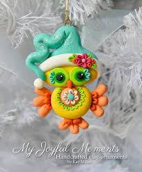 handcrafted polymer clay owl ornament by miller on etsy picmia
