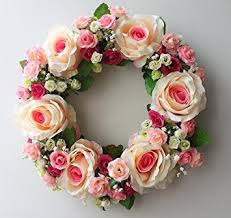 flower wreath large blooming flower wreath handmade home wall
