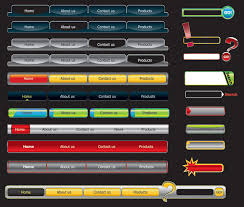 website menu design web design navigation menu vector material free vectors ui