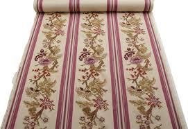 Striped Upholstery Fabric Zoffany Designer 18th Century Montfleury Purple Floral Stripe