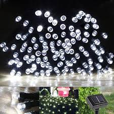 le solar power 100 led string lights 49ft 15m waterproof starry