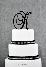 k cake topper personalized monogram initial wedding cake toppers letter k