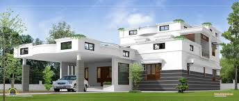 exterior luxury modern home plans contemporary design kerala with