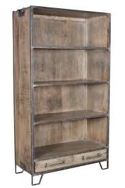 iron and wood bookshelf nadeau atlanta