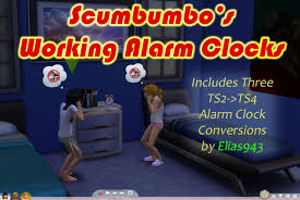 mod the sims working alarm clocks