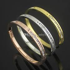 Personalized Bangle Bracelets Fashion Design Brand Silver Rose Gold 316l Stainless Steel Bangle