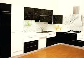cuisine noir et blanc cuisine noir et blanc laqu stunning cuisine noir laque