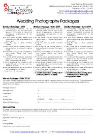 makeup contracts for weddings wedding photography booking form and contract 2014