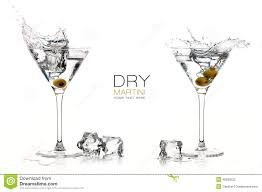 martini white dry martini cocktails splashes design template stock photo