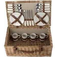 Picnic Basket Set For 4 Picnic Accessories Bushey Promotions