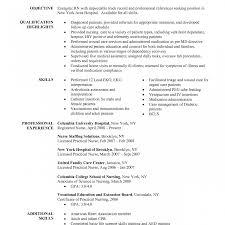 ex of nurse resume skills summary list resume nursing objectives nurse new graduate sle clinical