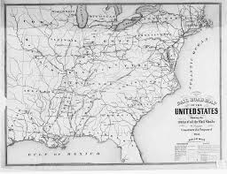 Map Of Usa During Civil War by Hargrett Library Rare Map Collection Transportation