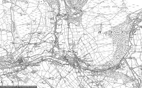 printable area old os old maps of hayfield francis frith