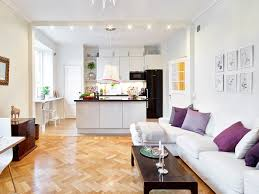 kitchen open plan kitchen with white living room also chevron